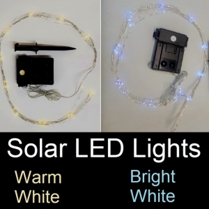 Each Solar Light set has 8 strings; each are 28 inches long